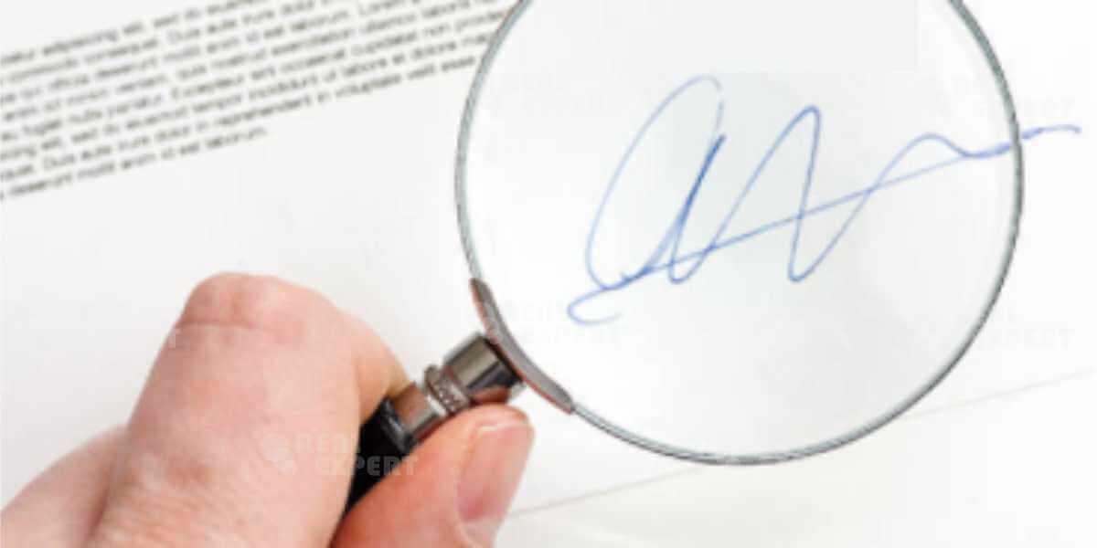 Почерковедческая экспертиза подлинности подписи