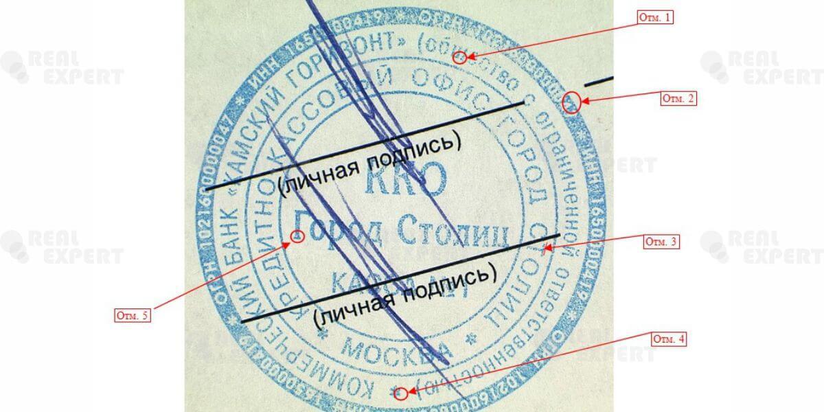 технико-криминалистическая экспертиза документов, образец которой можно увидеть на Рисунке